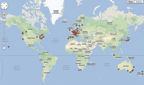 Mapa das melhores cidade para se viver