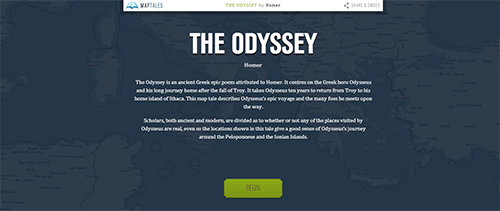 Mapa interativo da Odisseia
