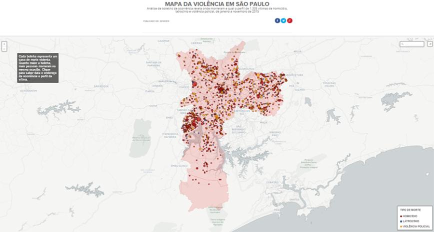 Mapa da violência em São Paulo - G1